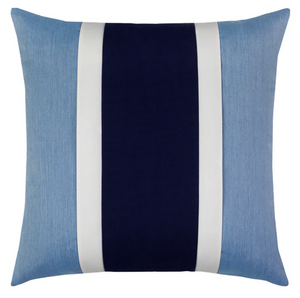 Nevis Blue Striped Outdoor Pillow