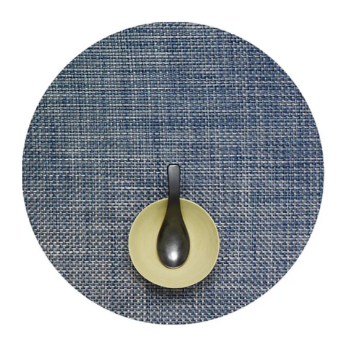 Chilewich Round Basketweave Placemat in Denim