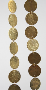 Hammered Brass Coin Garland