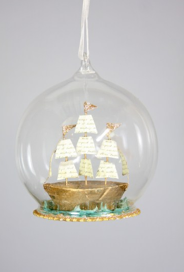 Glass Globe with Tall Ship