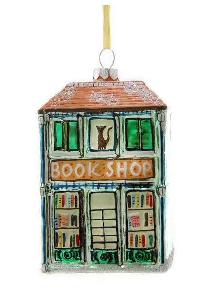 Book Shop Glass Ornament