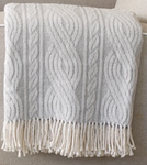 Large Cable Knit Blanket