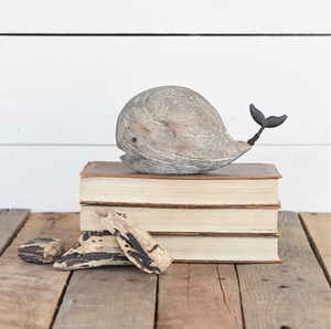 Small Rustic Wood Whale