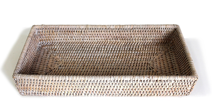 Rectangular Woven Bath Tray