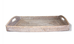 Large Rattan Rectangular Tray