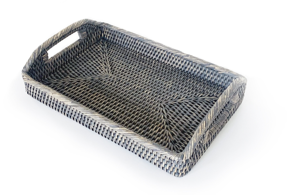 Small Rattan Rectangular Tray