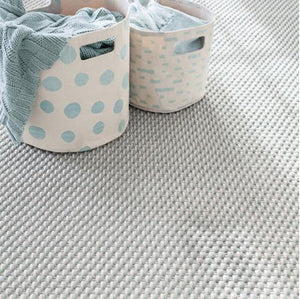 Portman Light Blue and Ivory Rope Rug