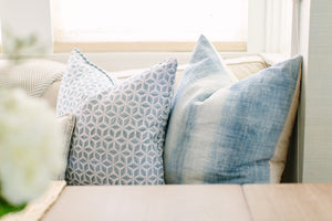 Hemp Blue Vintage Pillow