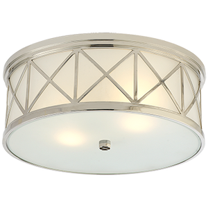 Harbor Polished Nickel Flush Mount