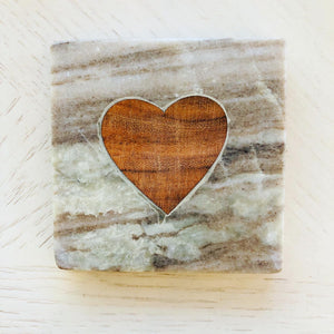 Marble Coaster With Heart
