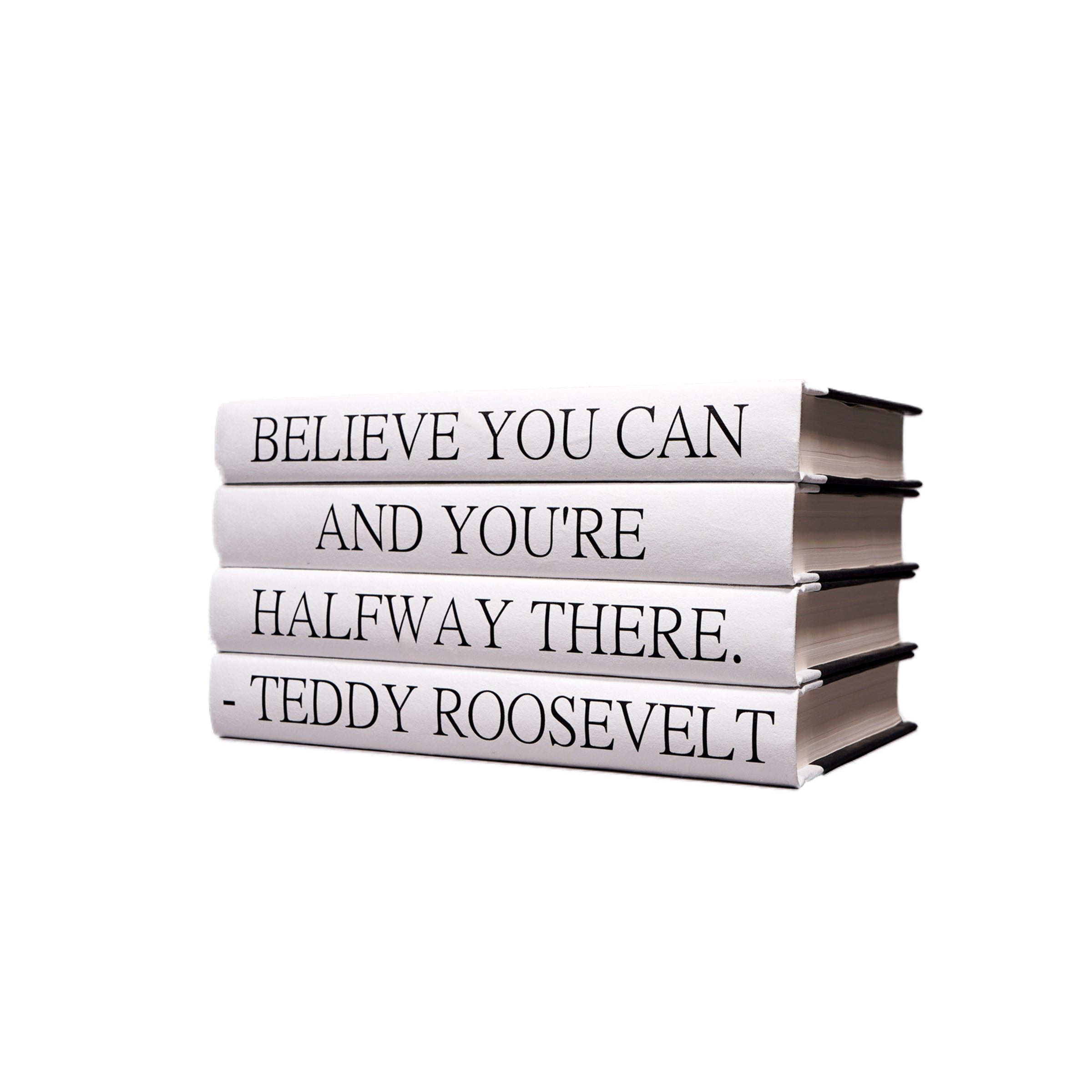 Teddy Roosevelt Quote Book Stack