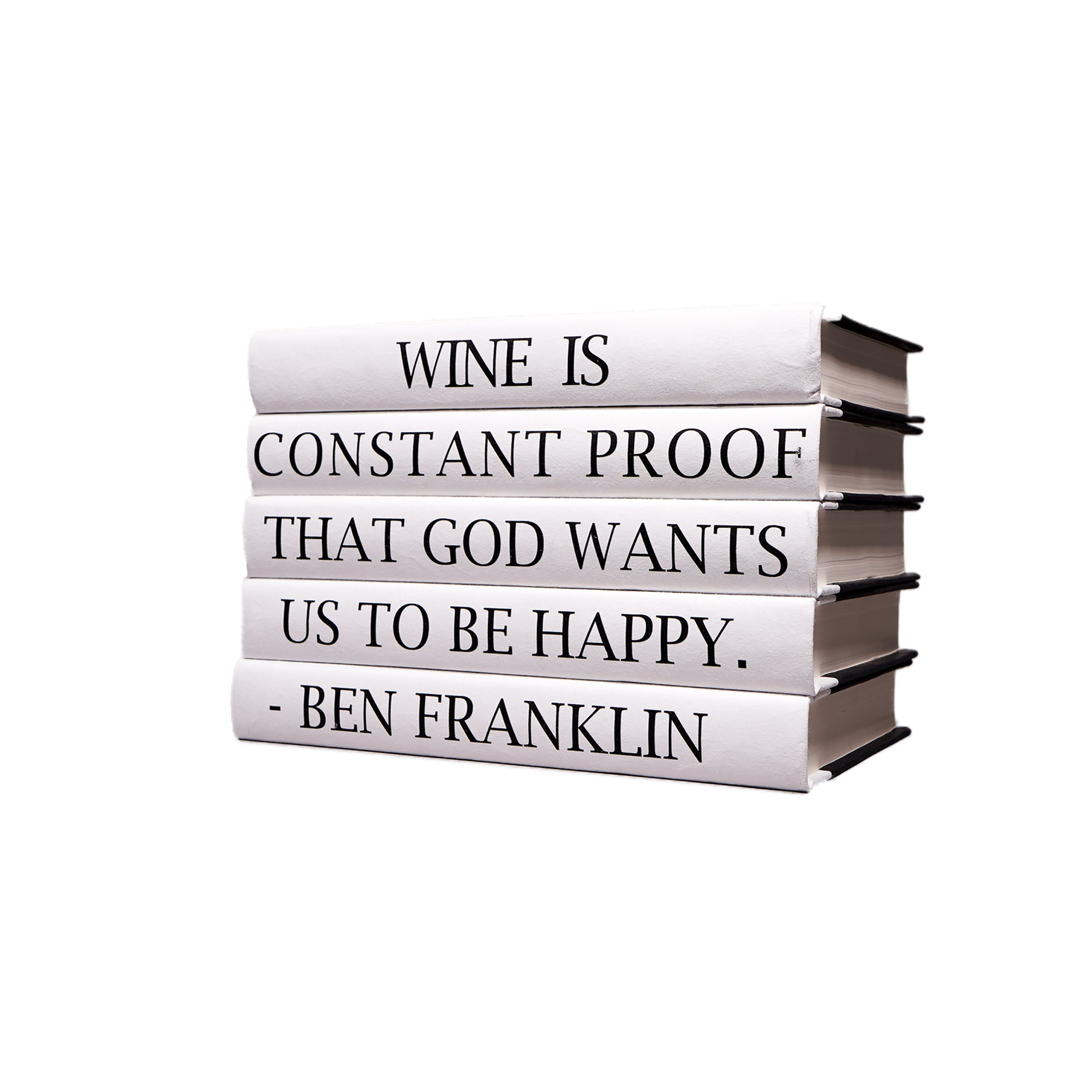 Ben Franklin Quote Book Stack