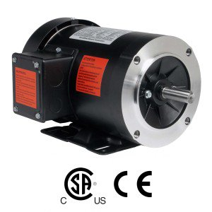 Worldwide General Purpose Three-Phase C-Face - Removable Base Motor 1 HP 3600 RPM