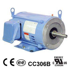 Worldwide Close Coupled ODP Enclosure C-Face Rigid Base Three-Phase Motors 1 HP 1800 RPM 143JP Frame