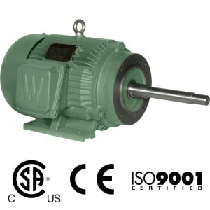 Worldwide Close Coupled TEFC Enclosure C-Face Rigid Base Three-Phase Motors 1.5 HP 3600 RPM 143JM Frame