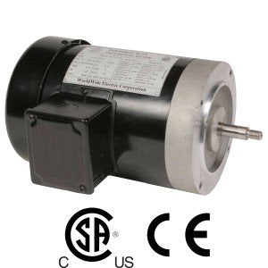 Worldwide Jet Pump Three-Phase Motor 2 HP 3600 RPM 56C Frame