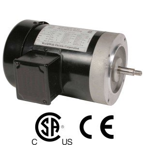Worldwide Jet Pump Three-Phase Motor 1 HP 3600 RPM 56C Frame