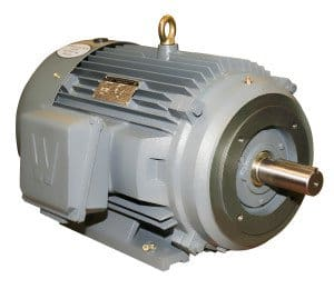 Worldwide Severe Duty TEFC Enclosure C-Face Rigid Base Three-Phase Motors 1 HP 1200 RPM 145TC Frame