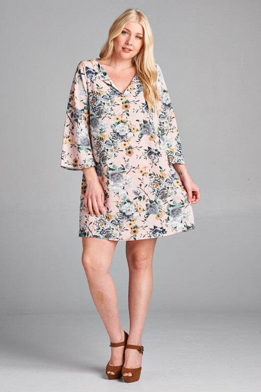 Quarter Bell Sleeve Dress