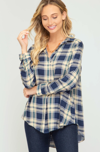 Plaid Button-Up