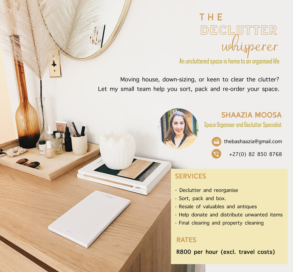 Shaazia Moosa, the Declutter Whisperer