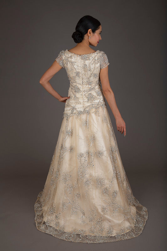 Howard Green Champagne Wedding Dress