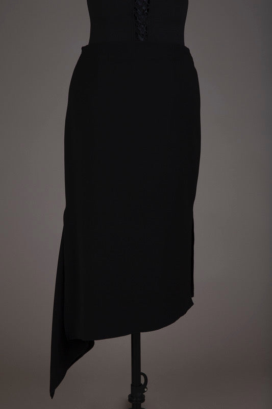 Witchery Black Asymmetrical Skirt