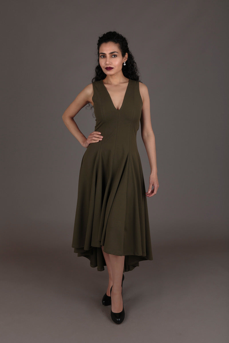 Erre Green Dress