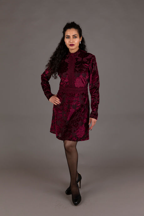 Edition burgundy cocktail dress (XS)