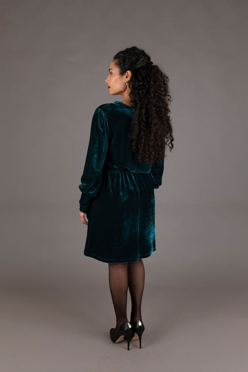 Edition Green Velvet Dress