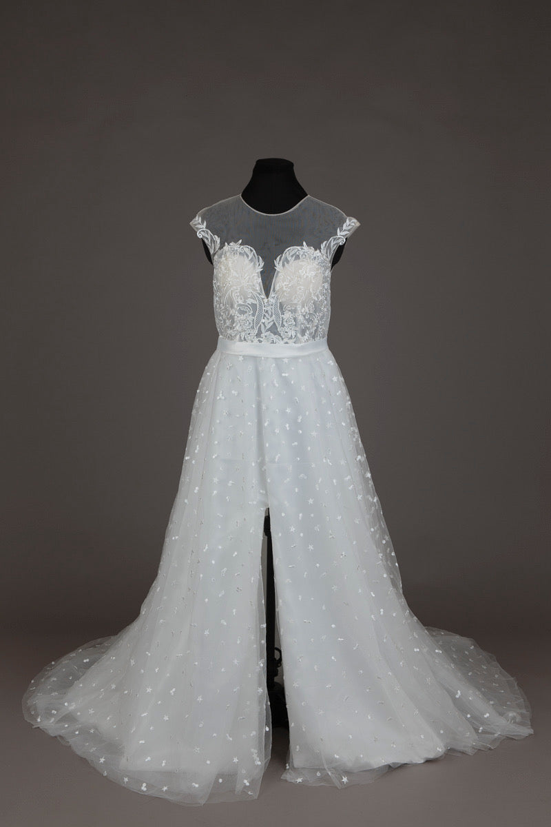 Ivory Embroidered Wedding Dress