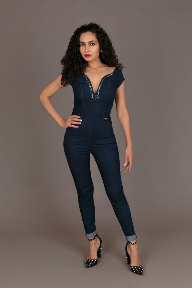 Sissy Boy Skinny Denim Jumpsuit