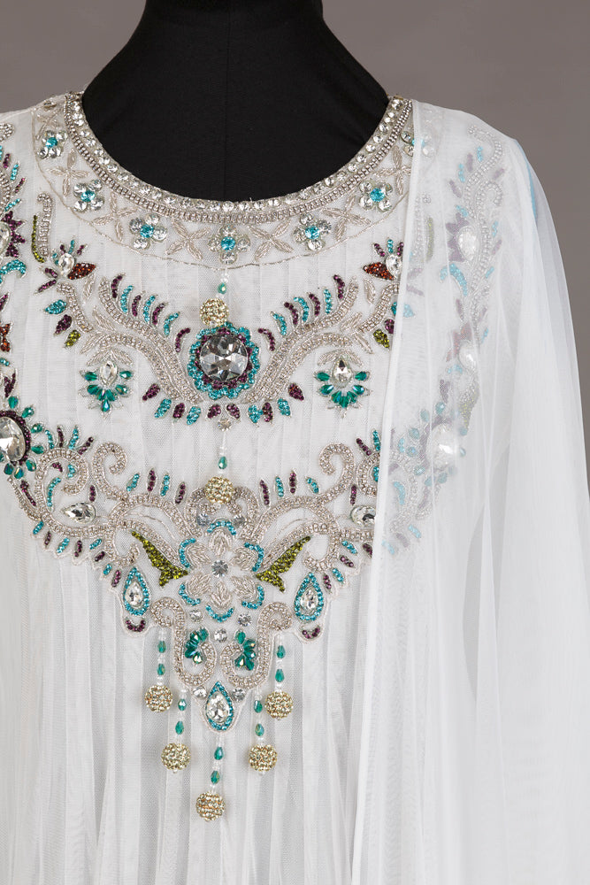 White Embellished Gharara