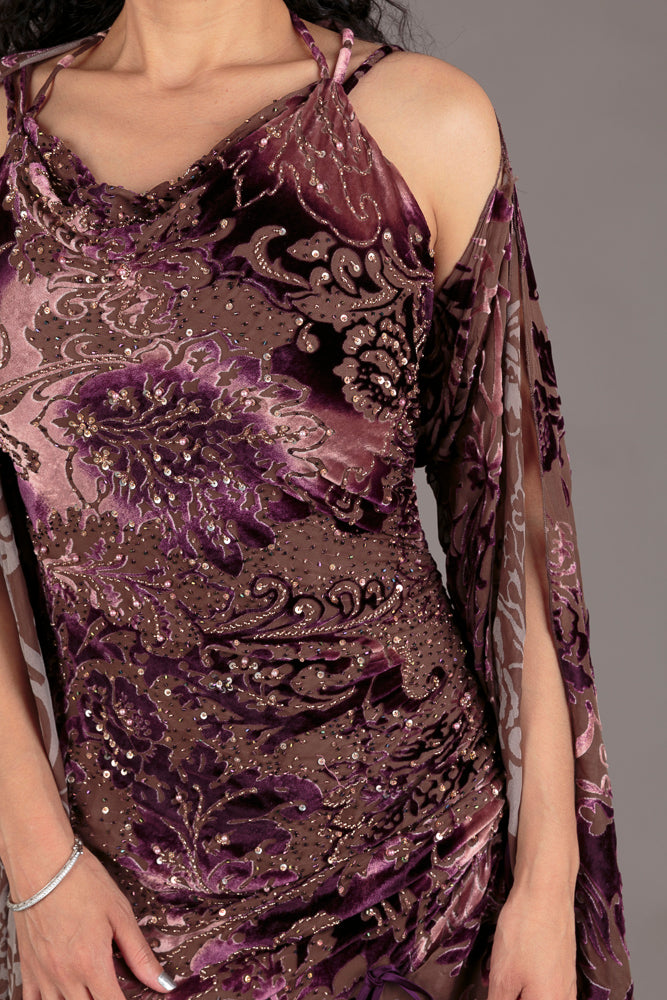 Diane Freis Purple Evening Dress