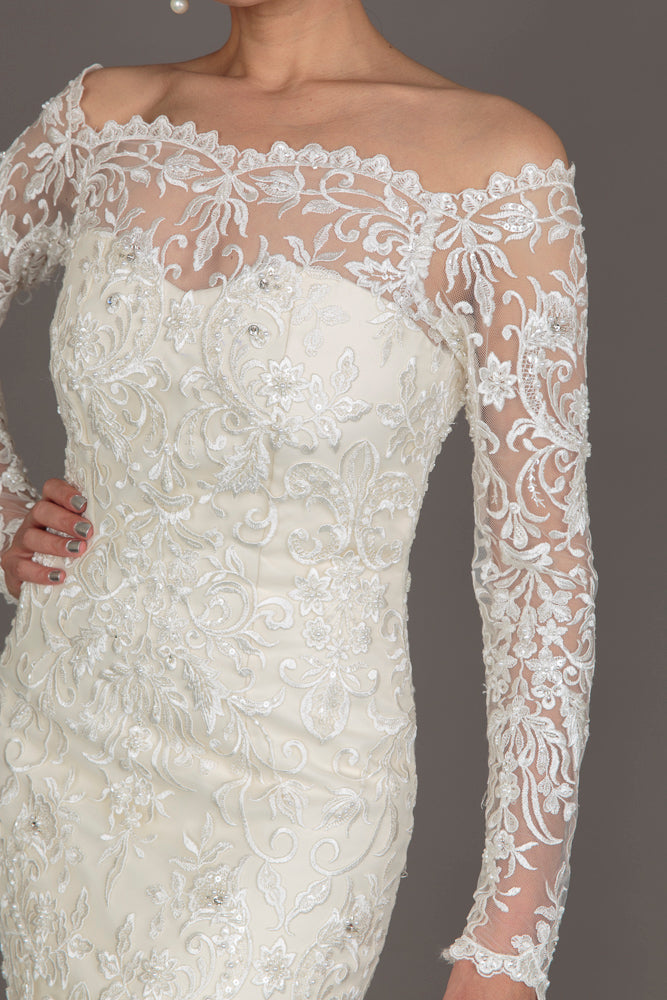 Atelier by Salma Ivory Lace Wedding Dress