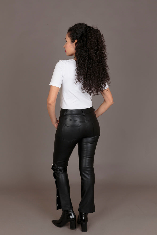 Mango Black Faux Leather Trouser