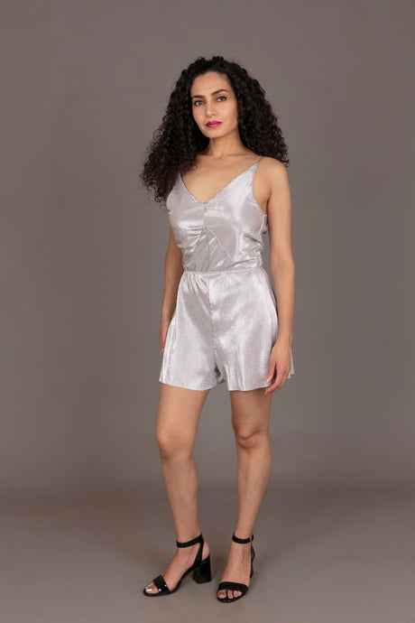 Topshop silver playsuit (S)