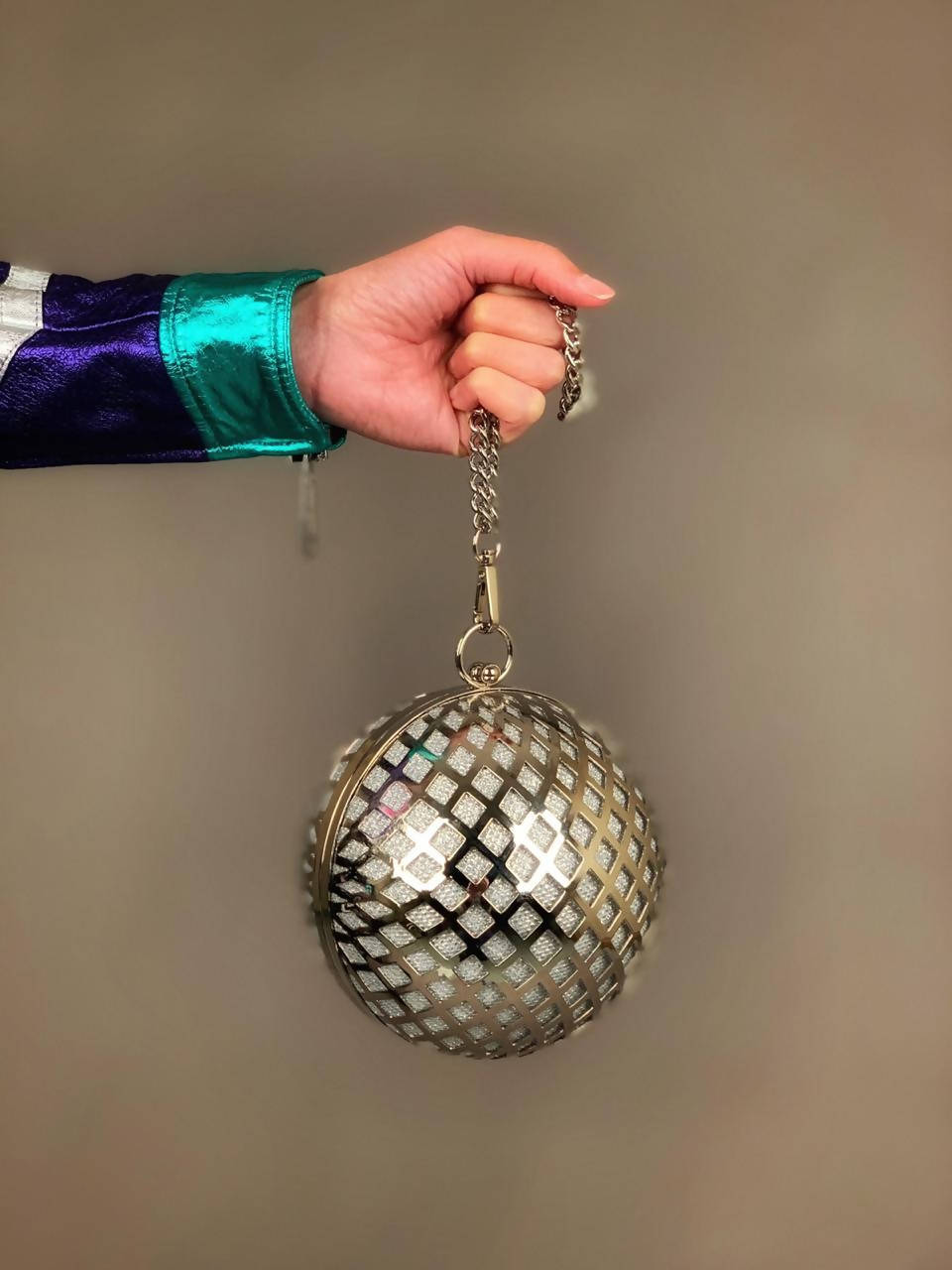 Colette Glitter-ball Clutch bag