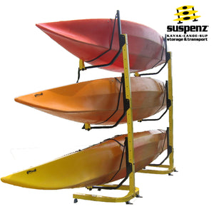 Deluxe 3-Boat Free-Standing Rack - also available in BLACK!