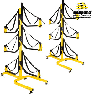 Deluxe 6-Boat Free-Standing Rack - also available in BLACK!