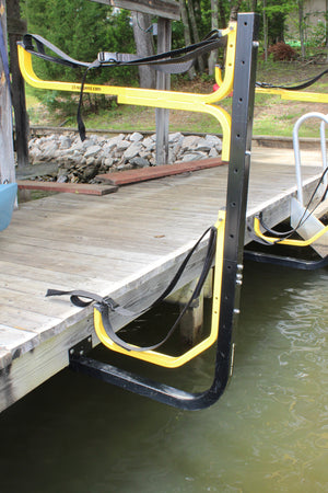 Over-Water Dock Mount using a Flat Rack and a JAY Rack