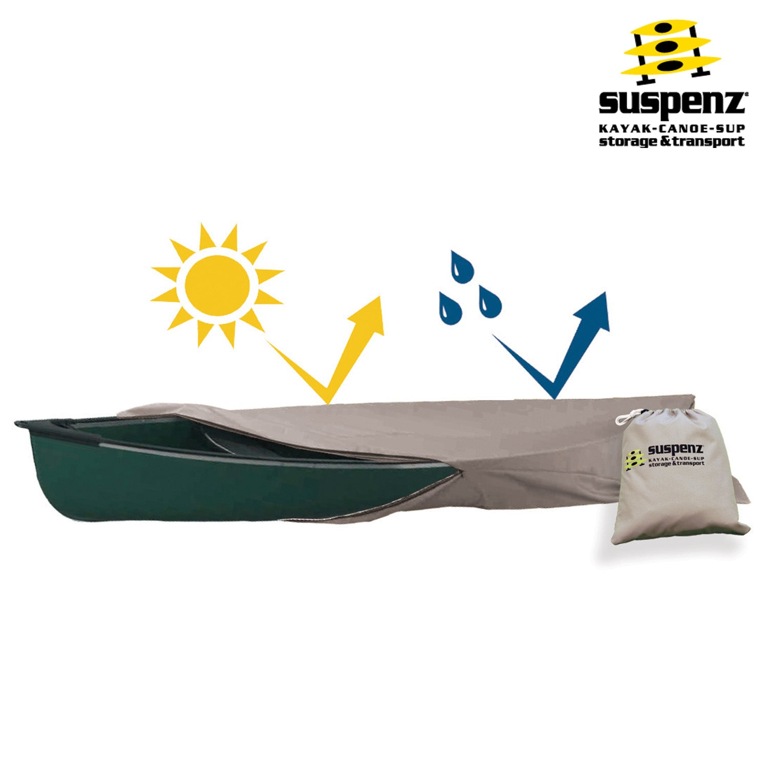 Suspenz Kayak /& Canoe Storage Cover