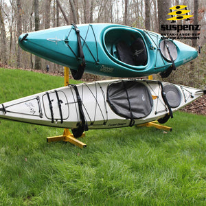 EZ 2-Kayak Free-Standing Storage Rack - T Base