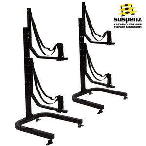 Deluxe 2-Boat Free-Standing Rolling Rack - also available in BLACK!