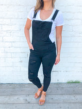 Distressed Overalls | Black