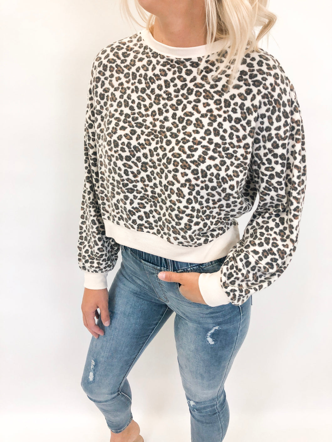 Multi Leopard Pullover | Natural