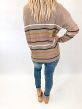 Quinn Striped Sweater | Mocha Combo