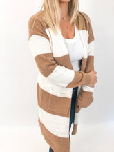 Holly Cardigan | Ivory and Tan