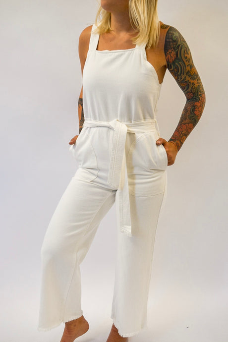 Afton Overall | White