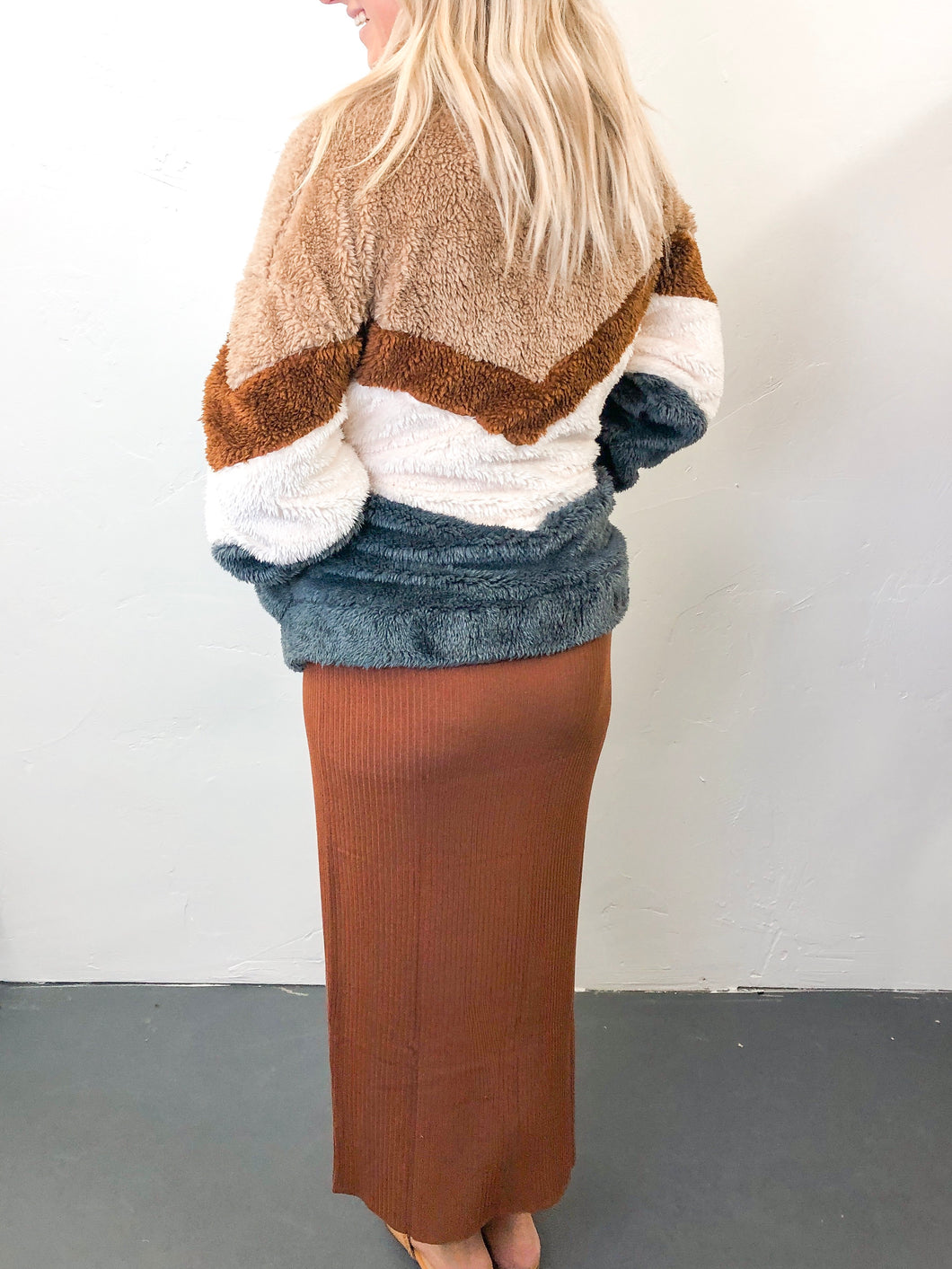Chevron Jacket | Brown Combo